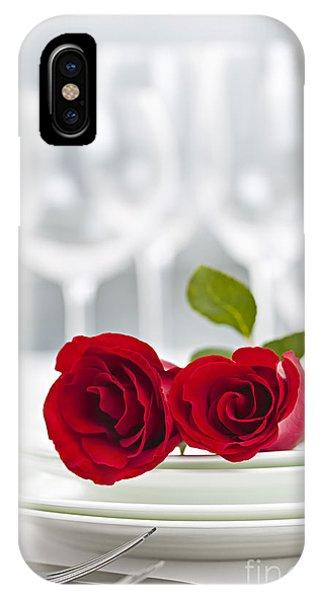 Romantic Dinner Setting IPhone Case