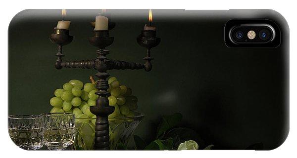 Grape iPhone X Case - Romantic Still-life by Magnola