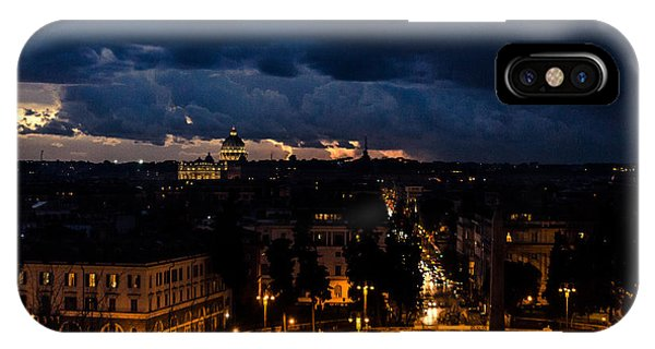 Rome Cityscape At Night  IPhone Case