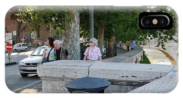 Rome Sidewalk 1 IPhone Case