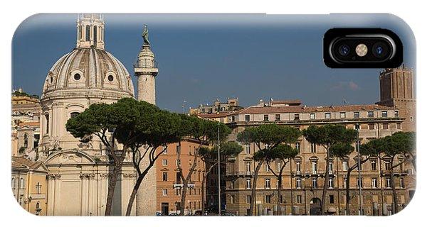 Umbrella Pine iPhone Case - Rome - Umbrella Pines And Sunshine  by Georgia Mizuleva