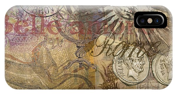 Rome Vintage Italy Travel Collage  IPhone Case