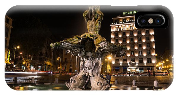 Rome's Fabulous Fountains - Bernini's Fontana Del Tritone IPhone Case