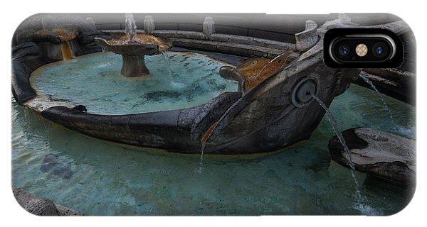 Rome's Fabulous Fountains - Fontana Della Barcaccia At The Spanish Steps  IPhone Case