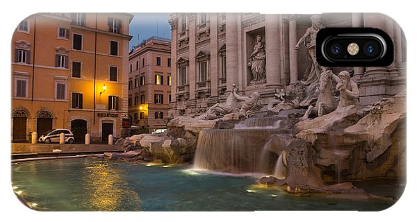 Rome's Fabulous Fountains - Trevi Fountain At Dawn IPhone Case