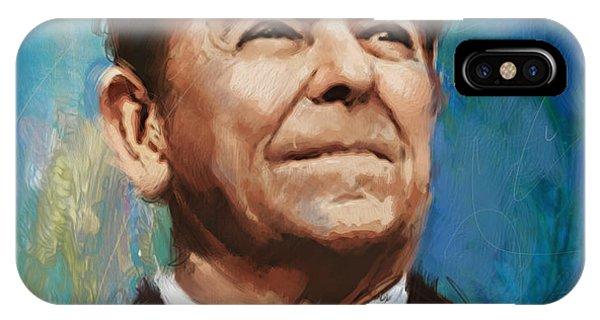 Ronald Reagan Portrait 6 IPhone Case