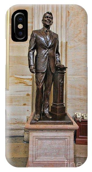 Ronald Regan -  U S Capitol Statuary Hall IPhone Case