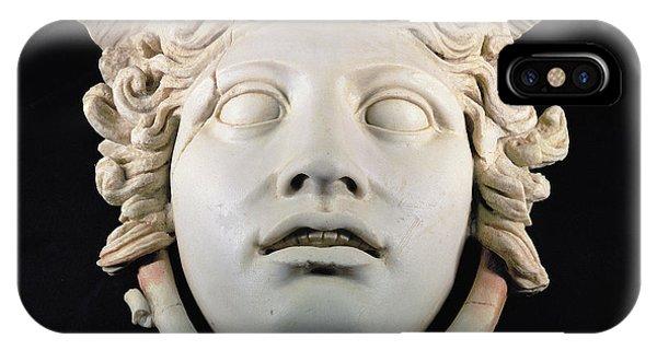 Rondanini Medusa, Copy Of A 5th Century Bc Greek Marble Original, Roman Plaster IPhone Case
