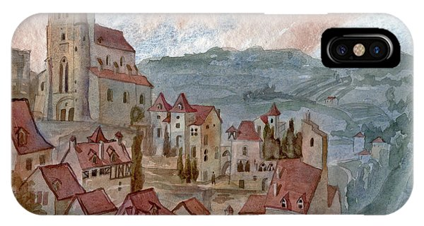 Roofs Of Saint Cirq-lapopie IPhone Case