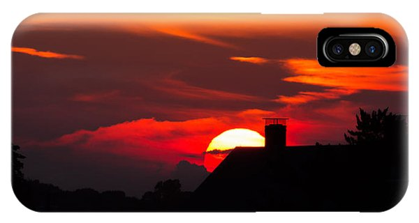 Rooftop Sunset Silhouette IPhone Case