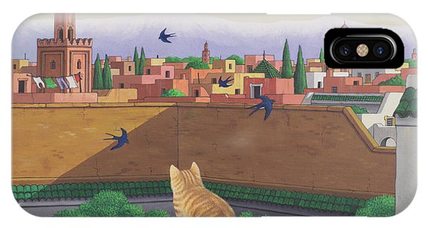 Swallow iPhone Case - Rooftops In Marrakesh by Larry Smart