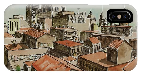 Rooftops Of Barcelona IPhone Case