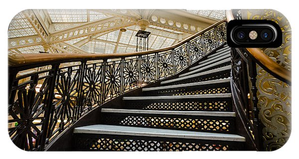 Rookery Building Atrium Staircase IPhone Case