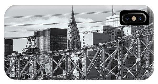Roosevelt Island Tram And Manhattan Skyline II IPhone Case