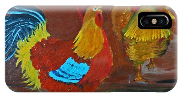 Rooster And Hen Phone Case by Dina Jacobs