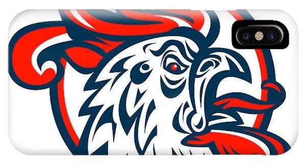 Gamecocks iPhone Case - Rooster Cockerel Crowing Head by Aloysius Patrimonio