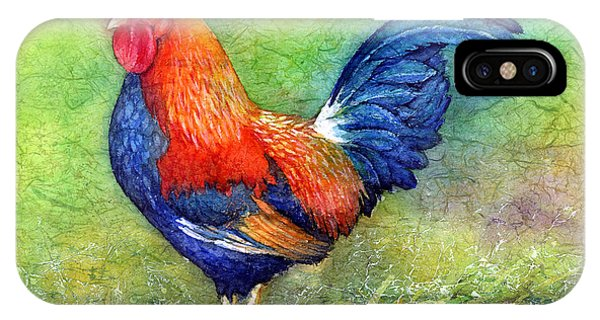 Bird Watercolor iPhone Case - Rooster  by Hailey E Herrera