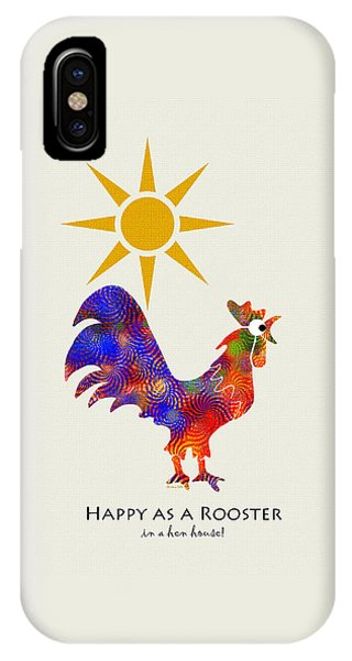 Rooster Pattern Art IPhone Case