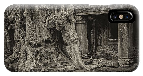 Roots In Ruins 7, Ta Prohm, 2014 IPhone Case