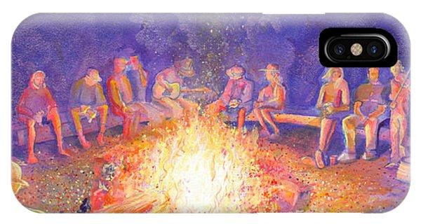 Roots Retreat Campfire Jam IPhone Case