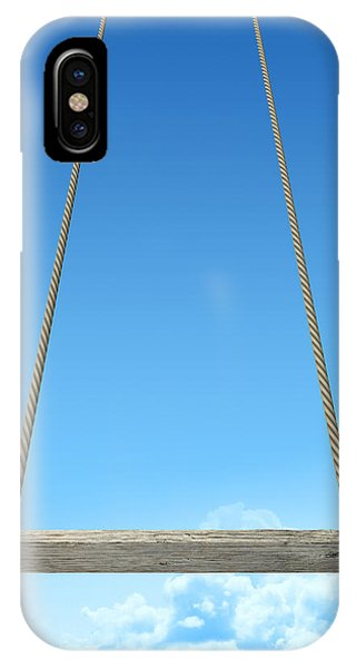Rope Swing With Blue Sky IPhone Case