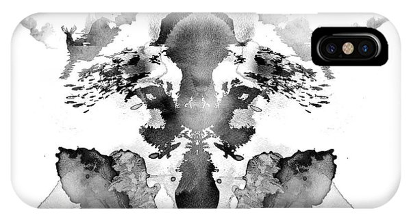 Tint iPhone Case - Rorschach by Robert Farkas