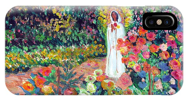 Rosa Mistica In Monet's Garden IPhone Case