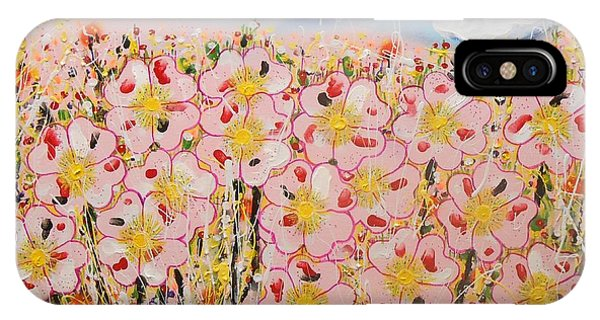 Rosa Ruby Flower Garden IPhone Case