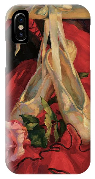Rose And Pointe Shoes IPhone Case