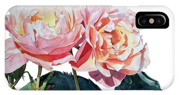 Pink And Yellow Rose Anne IPhone Case