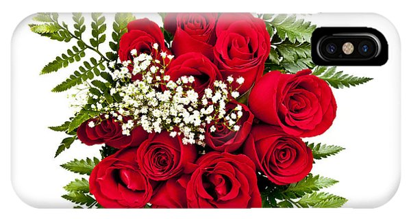Valentines Day iPhone Case - Rose Bouquet From Above by Elena Elisseeva