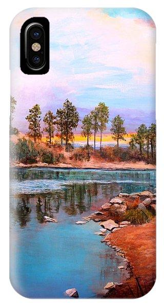 Rose Canyon Lake 2 IPhone Case