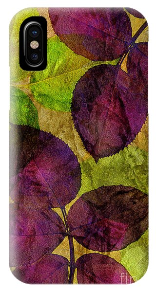 Rose Clippings Mural Wall IPhone Case