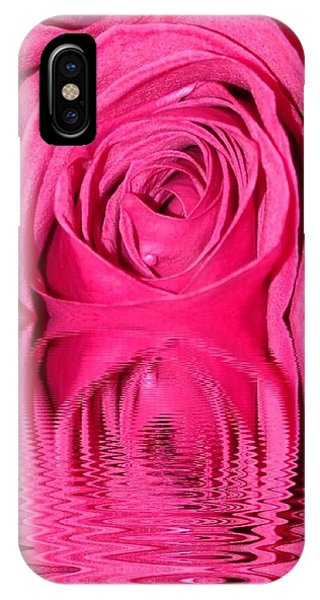 IPhone Case featuring the photograph Rose Drops by Marian Palucci-Lonzetta