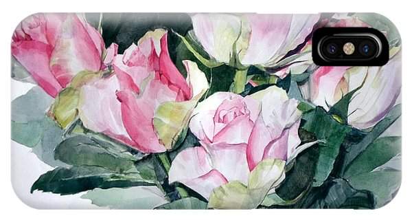 Watercolor Of A Pink Rose Bouquet Celebrating Ezio Pinza IPhone Case