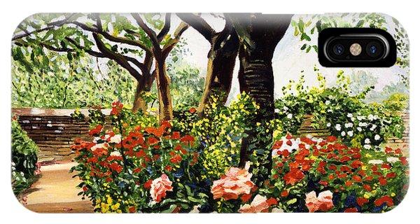 Rose Garden Impressions Phone Case by David Lloyd Glover