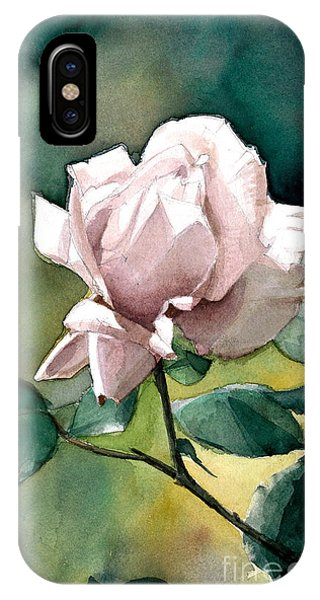 Watercolor Of A Lilac Rose  IPhone Case