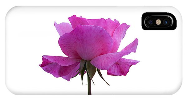 Rose Over White Background IPhone Case