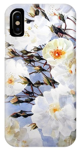 Wartercolor Of White Roses On A Branch I Call Rose Tchaikovsky IPhone Case