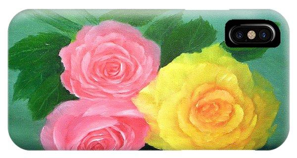 Rose Trio Phone Case by Francine Henderson