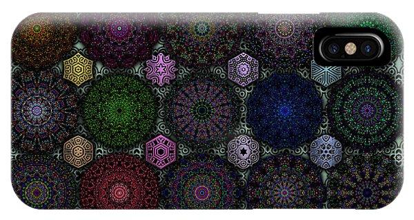 Rose Window Kaleidoscope Quilt IPhone Case