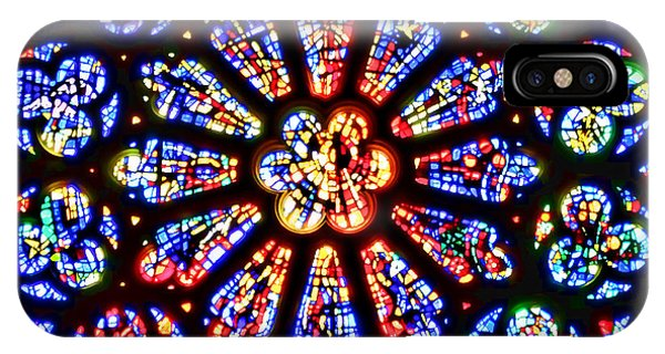 Rose Window Of Grace Cathedral By Diana Sainz IPhone Case