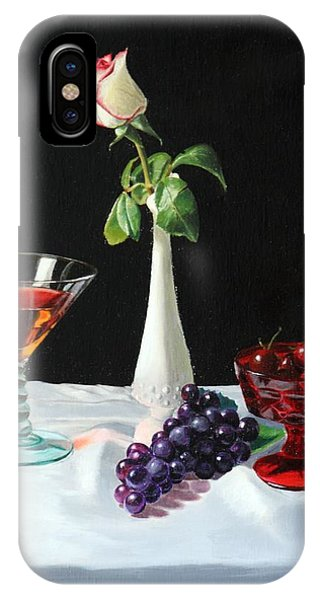Rose Wine And Fruit IPhone Case