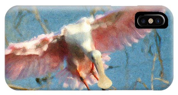 Da203 Roseate Spoonbill By Daniel Adams IPhone Case