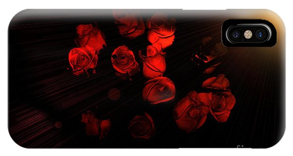 Roses And Black IPhone Case