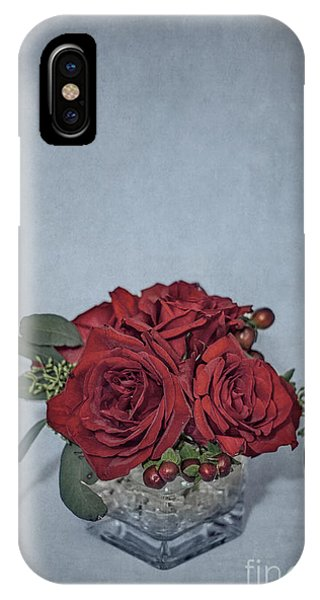 Bouquet iPhone Case - Roses Are Red... by Evelina Kremsdorf