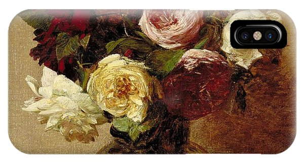 Life iPhone Case - Roses by Ignace Henri Jean Fantin-Latour