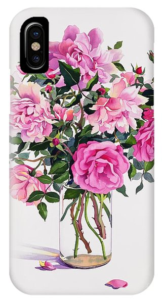 Representation iPhone Case - Roses In A Glass Jar  by Christopher Ryland
