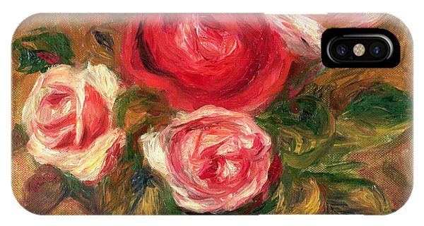 Blossoms iPhone Case - Roses In A Pot by Pierre Auguste Renoir