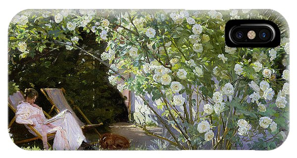 Yard iPhone Case - Roses by Peder Severin Kroyer